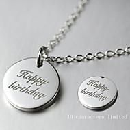 Men's / Unisex / Couples' / Women's Silver Necklace Wedding / Engagement / Gift / Party Non Stone