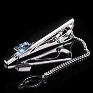 Groom Groomsman Gifts Piece/Set Cufflinks & Tie Clips Glam Wedding Anniversary Business Crystal Chrome Non-personalizedCufflinks & Tie