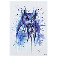 8pcs misteriosa azul del modelo del búho diseño de dibujo tatuaje falso impermeables mujeres temporales hombres cuerpo de vuelta pegatina