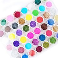 45pcs cor da mistura da arte do prego pó acrílico da arte do prego decoração