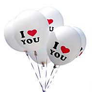 100stk / Lot 12 Inch i Love You Perle Lateks Ballonger Globos Ballonger For Jule Bryllup Dekorasjoner