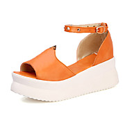 Women's Shoes Platform Peep Toe / Platform Sandals Dress / Casual Black / Purple / Beige / Orange / Coral