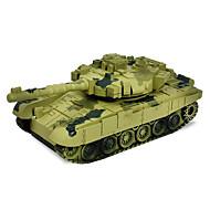 Tank RC Car 2.4G Geel Groen Klaar om te gebruiken Tank Afstandsbediening/Zender Batterij Oplader Handleiding Batterij voor de auto