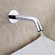 עכשווי מותקן על הקיר חיישן / מגע/ללא מגע with  שסתום קרמי חור אחד ידיים חופשיות for  כרום , ברז לאמבטיה