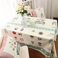 Cartoon-Muster Tischtuch Art und Weise hotsale hochwertigen Baumwoll-Leinen-Quadrat Couchtisch Tuchabdeckung Handtuch