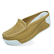 Women's Summer Comfort PU Casual Flat Heel Yellow / White