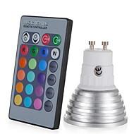 3W E27 / E14 / GU10 RGB צבע משתנה הובילו מנורה נורה עם שלט רחוק (85-265v)