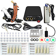 Professional Complete 1 Tattoo Machine Kit Power Supply Needle Grips Tips