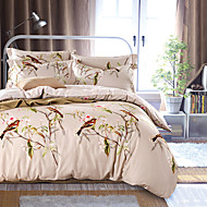 4PC Duvet Cover Set  Fresh Style Cotton Pattern Queen King Size Bird