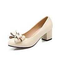 נעלי נשים-מגפיים-עור פטנט-נוחות / מעוגל-שחור / כחול / ורוד / בז'-משרד ועבודה / מסיבה וערב / שמלה-עקב עבה