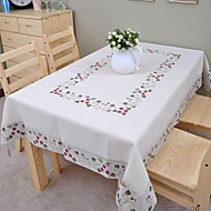 Embroidered Tablecloth Cotton Tablecloth Linen Tablecloth Classical 175x350cm (70*137inch)