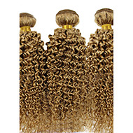 3 Pieces Curly Human Hair Weaves Brazilian Texture Human Hair Weaves Curly