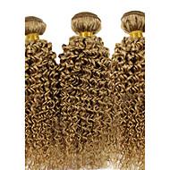 Człowieka splotów włosów Włosy brazylijskie Kręcone 3 elementy sploty włosów