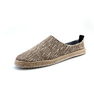 Men's Shoes Slip-Ons-Loafers / Casual Canvas Fashion Sneakers Black / Brown / White