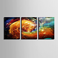 LED Kanvas Sanat Krajobraz Nowoczesny / Fason europejski,Trzy panele Płótno Pionowe Art Print wall Decor