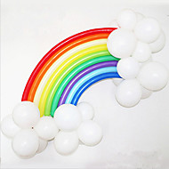 Regnbue Ballong Satt BirtHDay Fest Bryllup Dekor (20 Lang Ballong, 16 Runde Ballon, Tilfeldig Farge)