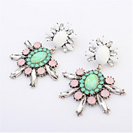 Good Quality NEW 2015 Classic Jewelry Exaggerated Rhinestone Crystal Long Drop Earring For Women Gift
