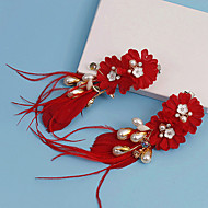 Women's Fabric Headpiece-Wedding / Special Occasion Flowers / Hair Clip 2 Pieces
