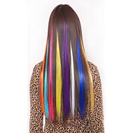 synthetische barevný klip v prodlužování vlasů 1 klipy 5color