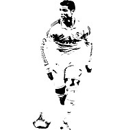Fashion Famous Football Star Wall Decals Leisure / Sports / 3D Wall Stickers Plane Wall Stickers,vinyl 51*120cm