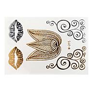Plantillas para Tatuajes Temporales- paraMujer / Adulto-Dorado-Papel-1-8*11*0.3