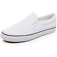 Men's Spring / Summer / Fall Comfort / Round Toe / Closed Toe Canvas Outdoor / Casual / Athletic Flat Heel Black / White