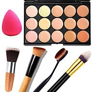 15 Corretivo/Contour+CorretivoEsponja de Pó de Arroz/Esponja de Maquiagem / Pincéis de Maquiagem Molhado / Mate / Brilho Rosto / Corpo