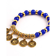 Bohemian National Wind Fashion Personality Gold  Beaded Female Avatar Bracelets
