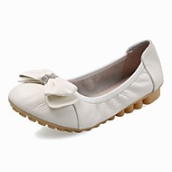 Women's Spring / Summer / Fall / Winter Comfort / Ballerina Cowhide Outdoor / Office & Career / Dress Flat HeelBlack / Yellow / Red /