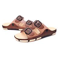 Gutter-Silikon-Flat hæl-Komfort Pastsandal-Sandaler-Fritid-Blå Brun