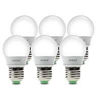 3W E26/E27 Lâmpada Redonda LED G60 6 SMD 210-240 lm Branco Quente / Branco Frio Decorativa AC 100-240 V 6 pçs
