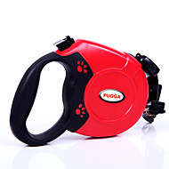 Cat / Dog Leash Adjustable/Retractable / Automatic Solid Red / Black / Blue / Gray Plastic
