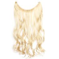 parykk golden 45cm syntetisk høy temperatur wire krøllete hår stykke farge 22/613