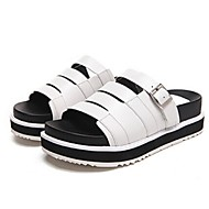 Women's Shoes Platform Slippers Slippers Casual Black / White