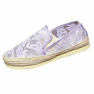 נעלי נשים-מוקסינים-תחרה-נוחות-שחור / כחול / חום / ורוד / סגול / בז'-קז'ואל-עקב שטוח