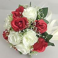 """Bouquets de Noiva Redondo Rosas Buquês Casamento Festa / noite Cetim 9.84""""(Aprox.25cm)"""