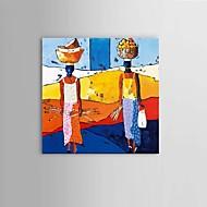 מצויר ביד אמנות קיר ציור שמן נשים אפריקניות מופשטות עם מסגרת מתוחה