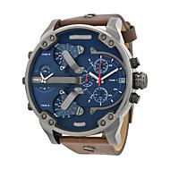 男性 軍用腕時計 リストウォッチ カジュアルウォッチ クォーツ レザー バンド ラグジュアリー ブラウン