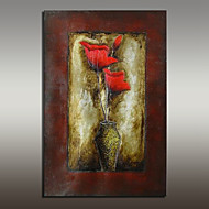 Large Size Canvas Oil Painting Hand Painted Modern Flower Picture Wall Art With Stretched Frame Ready To Hang