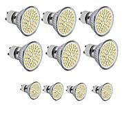 10PCS 3.5W 300-350LM GU10/E27/MR16 60SMD 2835 Warm /White Spot Light Bulb AC 110-130/DC 12/AC 220-240 V
