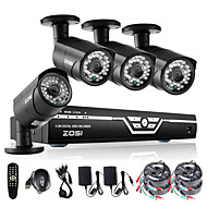 ZOSI@4CH 1080P AHD DVR 4XOutdoor 2.0MP Waterproof IR-CUT Bullet Camera Security Kit CCTV Systems