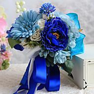 Brudebuketter Friform Peoner Buketter Bryllup Satin 8.27 tommer (ca. 21cm)