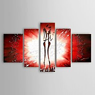 Hand Painted Abstract Oil Painting Home Naked marriage proposal Day gift Wall Art with Stretched Frame