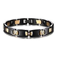 צמידים שרשרת וצמידים קרמי טיפול מגנטי יומי / קזו'אל תכשיטים מתנות שחור,1pc