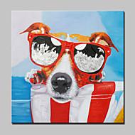 nagy olajfestmény modern absztrakt kutya állat kézzel festett vászon kép feszített keret készen akasztani