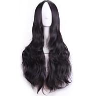 70 cm perruques harajuku de Anime Cosplay sexy femmes du parti longs ondulés cheveux synthétiques European American natrual perruque noire