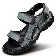 Men's Shoes Outdoor / Office & Career / Athletic / Dress / Casual Nappa Leather Sandals Black / Brown / Gray