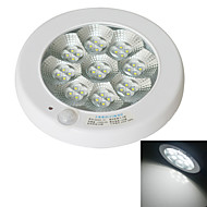 JIAWEN 7W 560-630lm 6000-6500K 36-2835 SMD Cool White LED Sensor Ceiling Lighting - White (AC 220V)