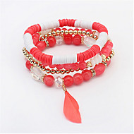 European And American Fashion Small Fresh Feather Beaded Bracelet