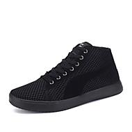 נעלי נשים-סניקרס אופנתיים-טול-נוחות-שחור / לבן / שחור ואדום-קז'ואל-עקב שטוח